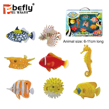 Funny play sea animal model puzzle diy toys for kids and adult