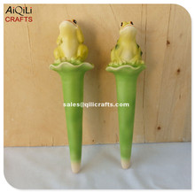 cute frog decoration ceramic duct for garden/pot watering flower