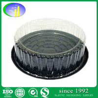 Round Shape Plastic Cake Box Cake Packaging Box For Sweet Shop