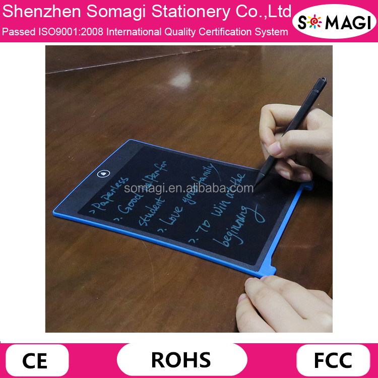 Functional ABS LCD writing tablet/8.5 Inch/graphic drawing tablet for school/family/office-use again and again-no need charge.