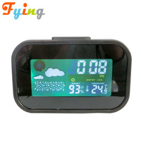 Color screen Weather Station with LCD Display Alarm Clock Indoor Humidity Monitor Hygrometer Digital Thermometer Monitor Home