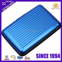 New Arrival Blue Aluminum Waterproof Credit Card Holder Case