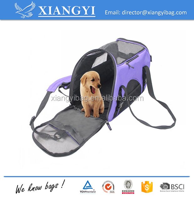 Portable Comfort 17-19 Inch Soft Sided Pet Carrier Travel Small Animals Tote Bag
