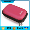 pink pu leather waterproof eva camera zipper case