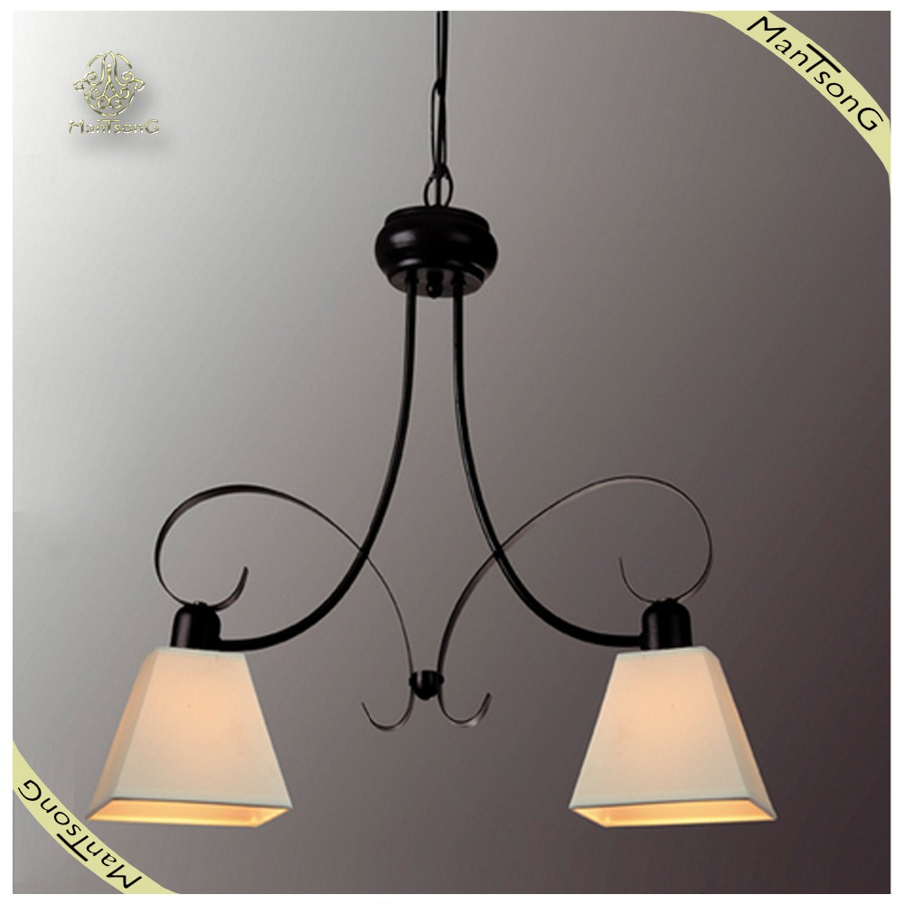 Beat Selling Classic Wrought Iron Interior Decorative Pendant Lamps Fabric Shade Pendant Lights, Lamp Pendant Lamps Fabric