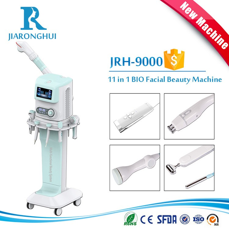 Multifunction comprehensive facial beauty 11 in 1 bio lifting face machine with facial steamer