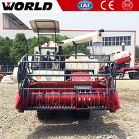 grain harvester with rubber track and 88hp engine