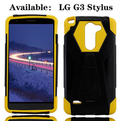 Dual Layer New Hybrid Phone Cover for LG G3 Stylus D690,Plastic Silicone Rubber for LG G3 Stylus Cell Phone Case