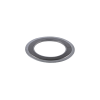 High pressure spiral wound gasket with inner and outer ring