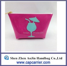 pvc cosmetic ba cocktail glass icon trolley bag