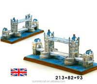 The British Tower Bridge of London resin world famous building miniature
