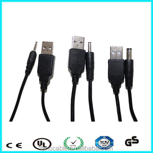 usb charger cable to dc 3.5 mm jack
