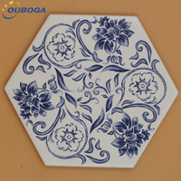 wholesale cheap non-slip bathroom hexagonal ceramic tile flooring in china