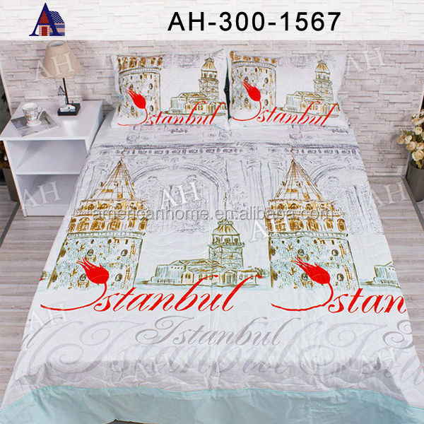 Quality Single Double Queen King Size Cotton Print Quilt Cover Set