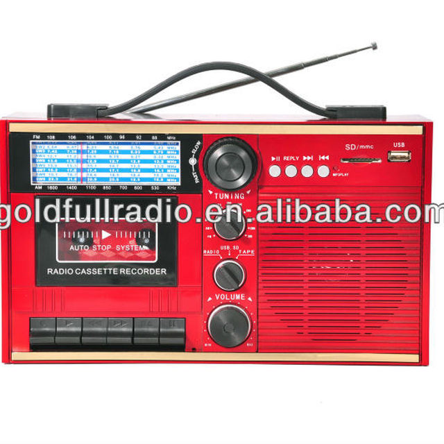Best Quality Classic AM/FM/SW Radio Portable USB SD Cassette Recorder