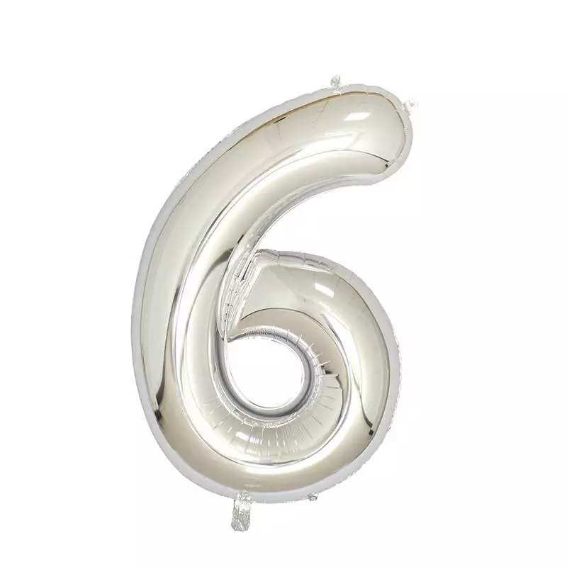 40inch New Superr Silver Helium Foil Number Balloon Birthday/Wedding /events/Decor