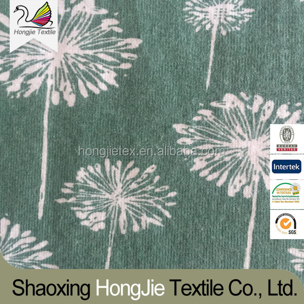 Wholesale 100% Cotton Dandelion Printed Clothing Fabric For Bedding Set