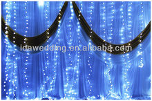 led decorative stage backdrops lighting curtain light Size 26ft*13ft for christmas wedding and party decoration