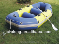PVC inflatable sports boat for two person with two paddle