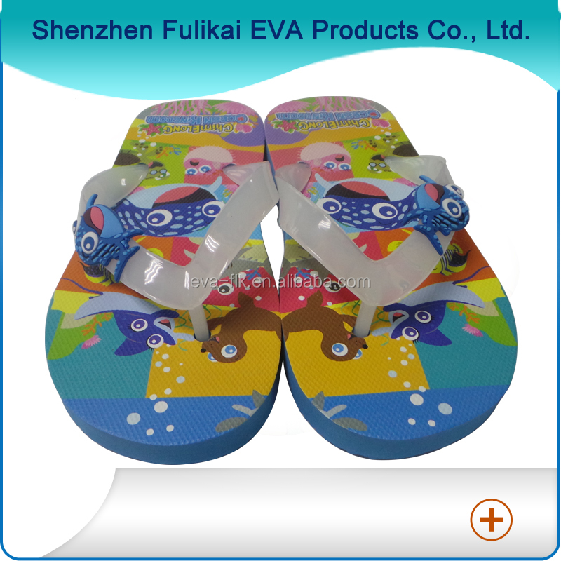 Rubber Material With Texture Ocean Animal Theme Design Children slippers