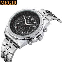 hot sale megir watch slim stone watch with japan movt