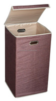"26"" Closet Folding Laundry Clothes Hamper Sorter Basket Bin with Lid"