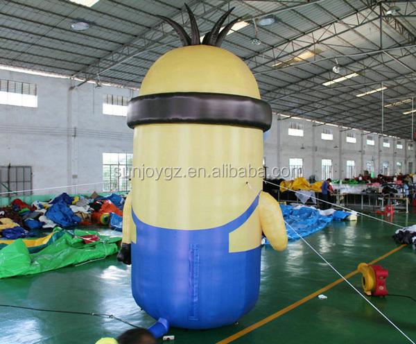 2016 Mundo Estímulo Bem-vindo Inflável Amarelo Minion Personagens de Desenhos Animados mascote terno para diversão e formação em saúde