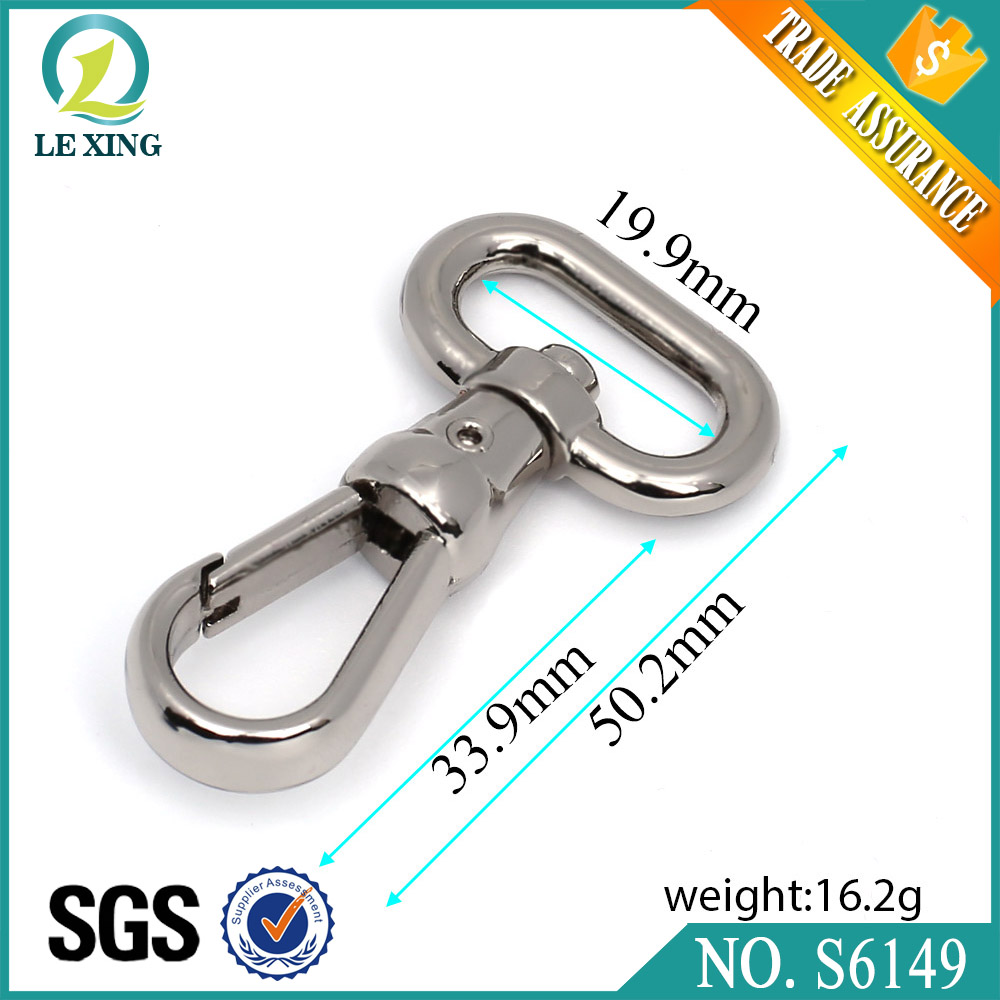 Metal purse hardware commercial fishing stainless steel carbine zinc alloy snap hook with cheap price