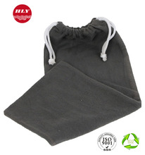 Recyclable Grey Drawstring Custom Velvet Jewelry Bag For Gift