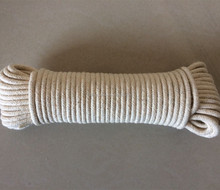 4mm natural braided cotton rope for sale