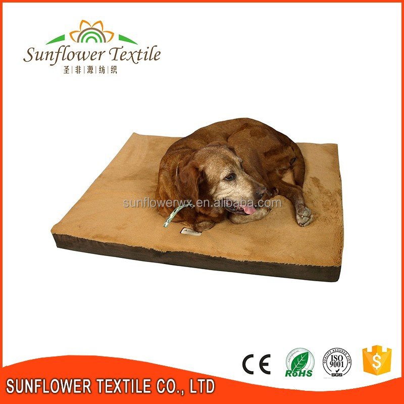 Water Proof Memory Foam Luxury Pet Dog Bed Cushion In China