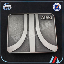 metal atari belt buckle blanks