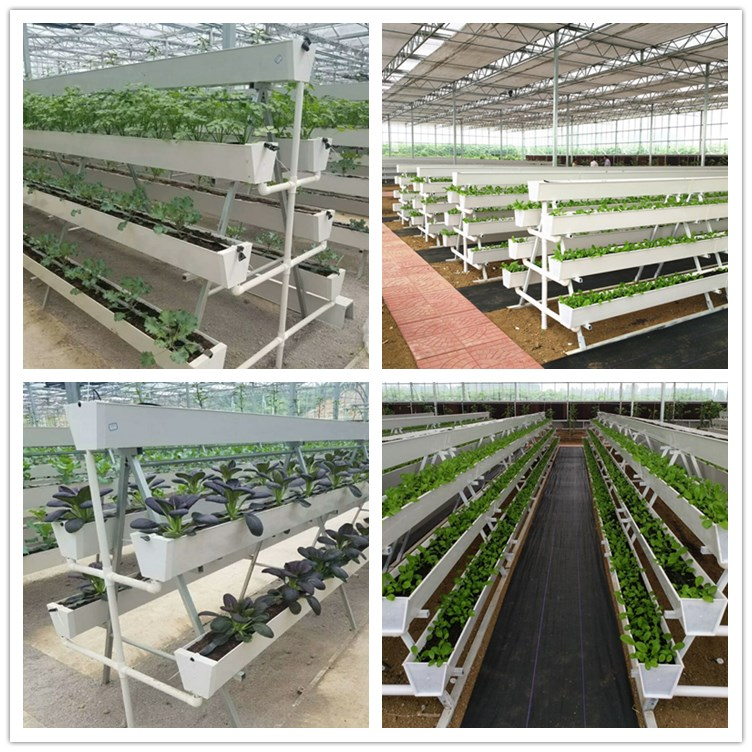 Hydroponic systems vertical PVC plant growing tower gutter