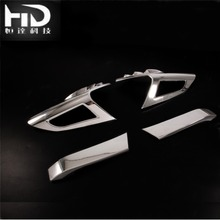 For Toyot a C-HR Rear Tail Light ABS Garnish Mirror Plating Cover Trim ABS Chrome Tail lamp Garnish Frame 4PCS