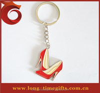 2015 fashion rhinestone keychains custom key chain high heel shoes bling keychain for gifts
