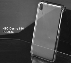 Simple designed plastic transparent case For HTC Desire 816