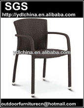 resin PE rattan wicker outdoor stacking chair