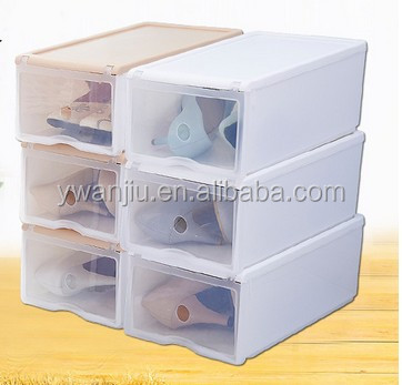 Wholesale Stock Small Order Plastic Transparent Shoes Storage Box