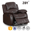 America Style Brown Bonded Leather Single Swivel Glider Rocker Sofa Furniture, Recliner Chair ZOY-93930-51
