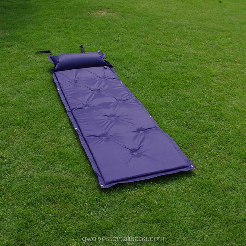 Outdoor Inflatable waterproof Camping Mat Automatic sleeping pad With Pillow