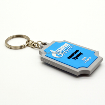 Custom made souvenir soft rubber key tag pvc