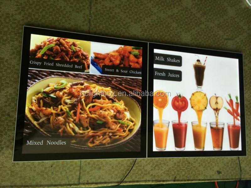 menu display fast food menu board menu light box restaurant led menu