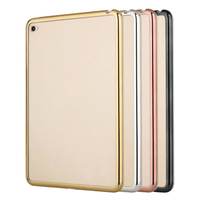 2018 hot selling fashion electroplated shinning soft TPU clear tablet case for iPad mini 2 3 4 Air 2 Pro