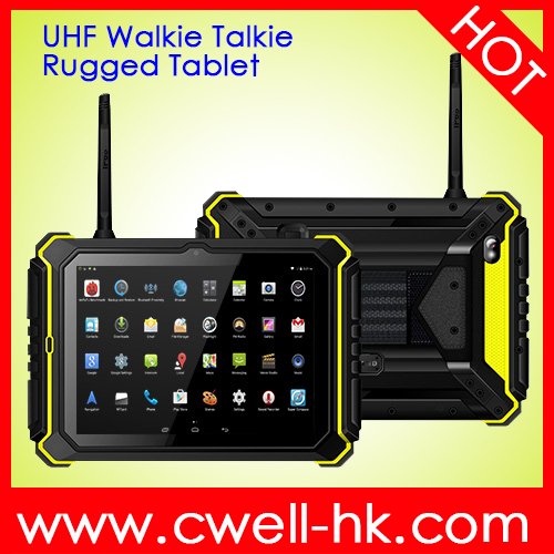 IP67 Military Walkie talkie tablet with battery 14000mAh can become power bank to output power rugged device