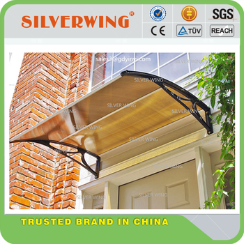 Strong wind resistant plastic front door polycarbonate for Wind resistant material