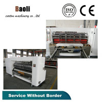 Corrugated paperboard automatic rotary die cutting/Equipment for the production of corrugated board