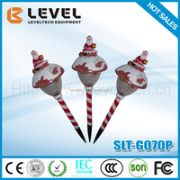 2016 New Design Solar Type CE&ROHS Certificate Cool White Resin Father Christmas Solar lights