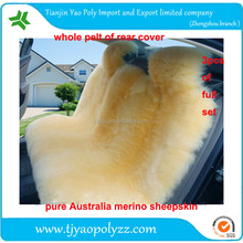 long wool and short wool beige australia sheep fur car seat cover