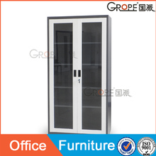 office cabinet furniture white grey 2 glass doors steel file cabinet