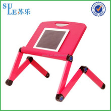 Fast supplier angle adjustable flexible gooseneck laptop stand computer desk wholesale laptop table for left handed for sofa